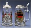 Glass Beer Stein - German Colors