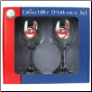 Cleveland Indians Wine Glass Set