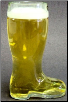 1/2 L German Glass Beer Boot
