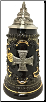 Pewter Iron Cross Military Decoration German Beer Stein .25 L