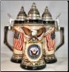 German Beer Stein - US Navy Rustic .75L