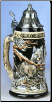 German Beer Stein - LE - Power of the Pack Wolf .75L