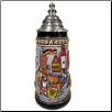 Deutschland Germany City Panorama Painted LE Beer Stein