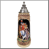 Couple on Horses for Falcon Hunt Limitaet LE Beer Stein
