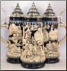 Blue Germany Knights Relief LE German Beer Stein .5 L